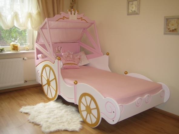k nigliche kutsche bett f r kl prinzessin kinderbett ebay. Black Bedroom Furniture Sets. Home Design Ideas