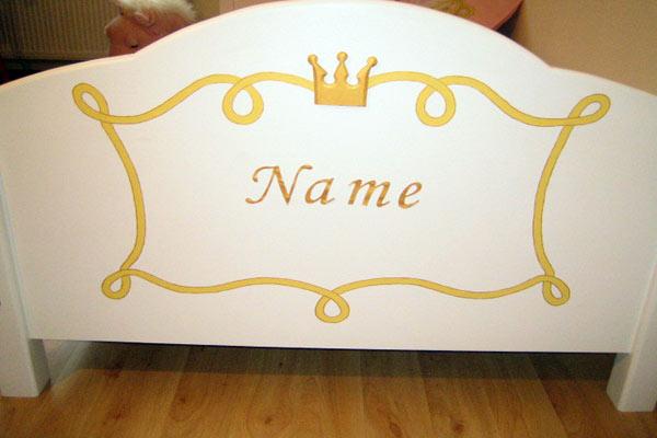 princess bett kinderbett f r eine prinzessin 90x200. Black Bedroom Furniture Sets. Home Design Ideas