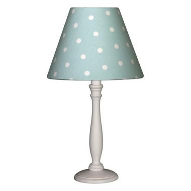nachttischlampe punkte t rkis wei oli niki. Black Bedroom Furniture Sets. Home Design Ideas