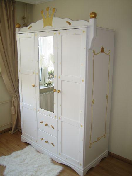 kleiderschrank 3 t rig prinzessin wei oli niki. Black Bedroom Furniture Sets. Home Design Ideas