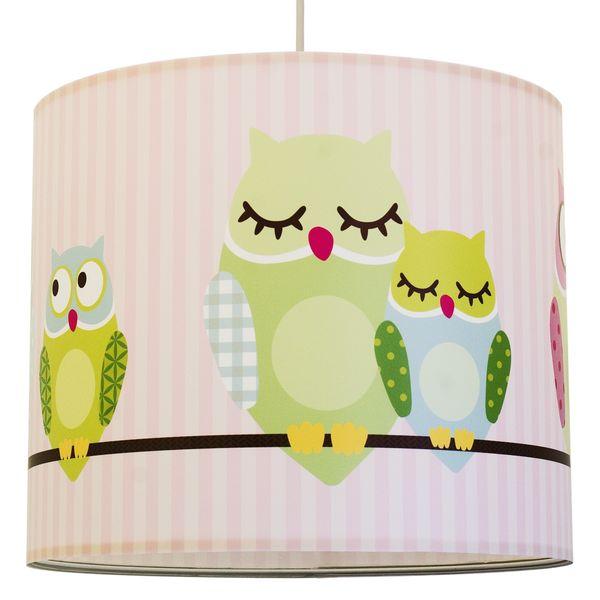 kinderlampe eule streifen rosa oli niki. Black Bedroom Furniture Sets. Home Design Ideas