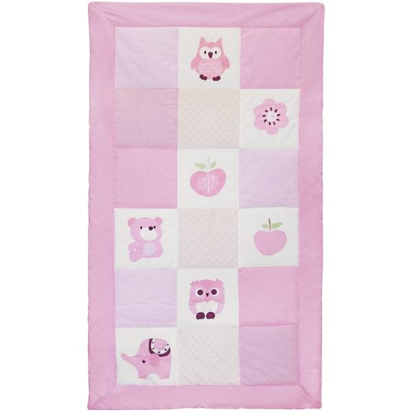 Kinderteppich eule rosa  Tagesdecke Eule rosa | Oli&Niki