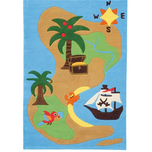 Teppich Piratenschatzkarte  Oli&Niki