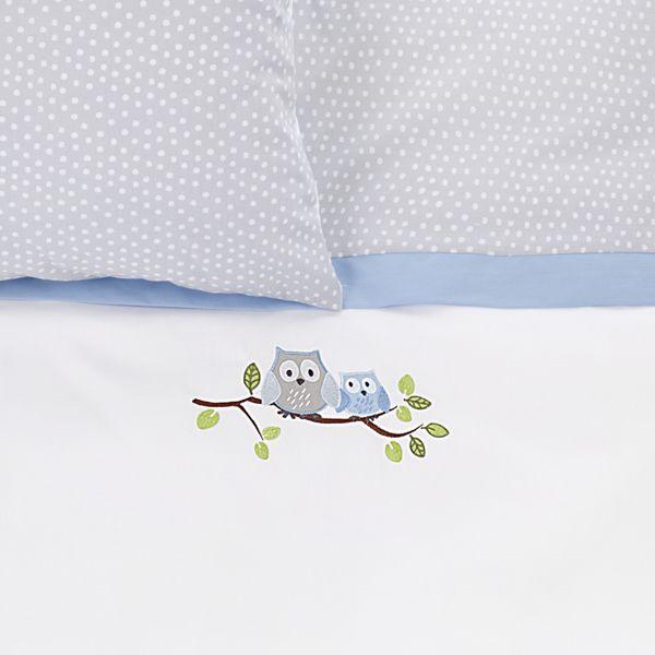 Bettwäsche Eule Blau Oliniki