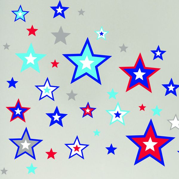 Wandsticker sterne blau oli niki - Wandsticker sterne ...
