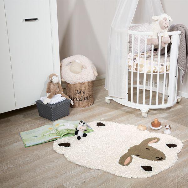 heller teppich schaf oli niki. Black Bedroom Furniture Sets. Home Design Ideas
