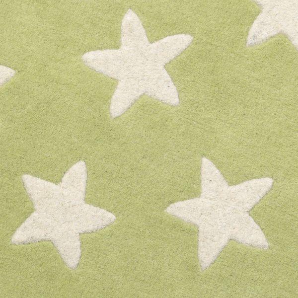 Kinderteppich Grün Mit Stern
