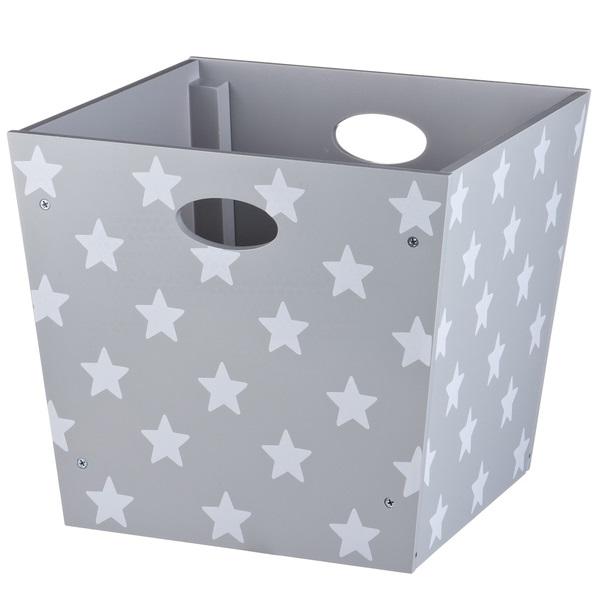 spielzeugbox sterne grau bei oli niki bestellen. Black Bedroom Furniture Sets. Home Design Ideas