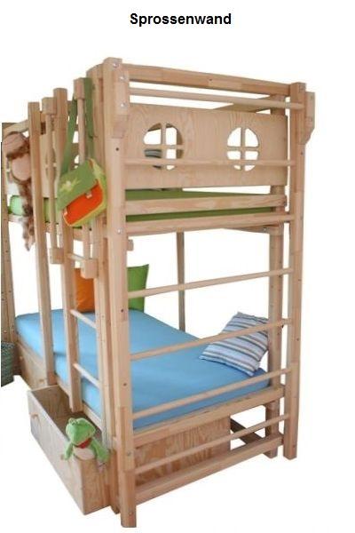 Etagenbett Drei : Kinder etagenbetten aus massivholz mit matratzen