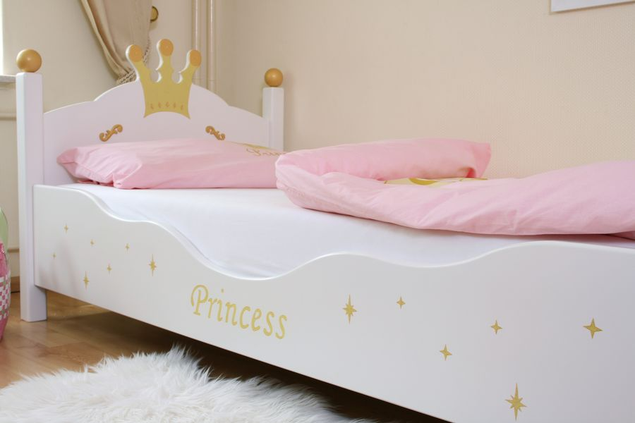 kinderbett prinzessin weiss bei oli niki online bestellen. Black Bedroom Furniture Sets. Home Design Ideas