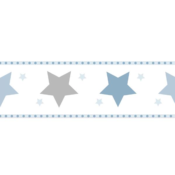 Kinderzimmer sterne blau  Bordüre Sterne blau | Oli&Niki