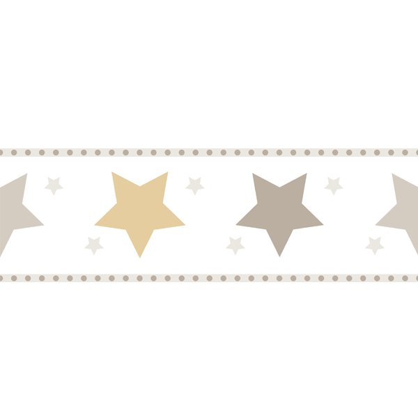 Kinderzimmer sterne beige  Tapete Sterne beige-gold | Oli&Niki
