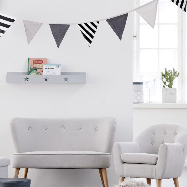 wandregal grau sterne oli niki. Black Bedroom Furniture Sets. Home Design Ideas