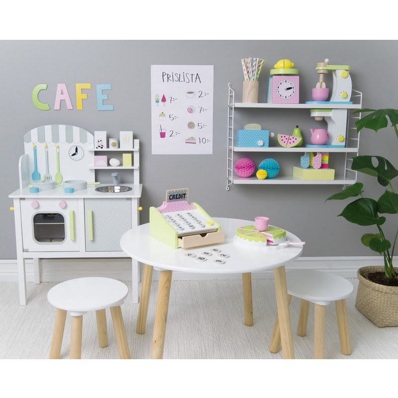 kindertisch rund weiss 2 st hle oli niki. Black Bedroom Furniture Sets. Home Design Ideas
