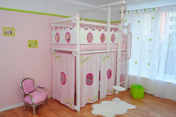 m dchen hochbett prinzessin die neuesten. Black Bedroom Furniture Sets. Home Design Ideas