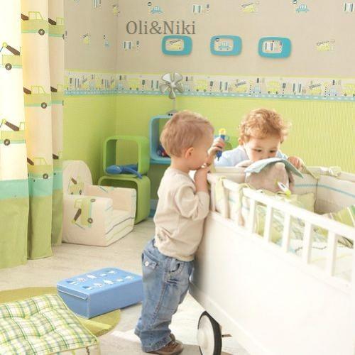 Kinderzimmer Tapeten Cars : Tapete Auto beige-gr?n Oli&Niki
