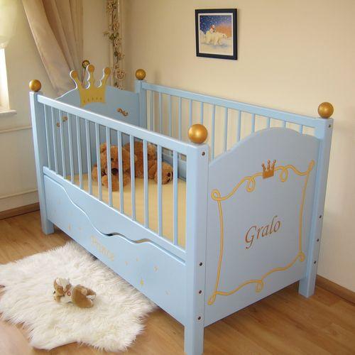 babybett hellblau im shop von oli niki. Black Bedroom Furniture Sets. Home Design Ideas
