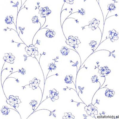 kinderzimmertapete in wei mit blauen im shop von oli niki. Black Bedroom Furniture Sets. Home Design Ideas