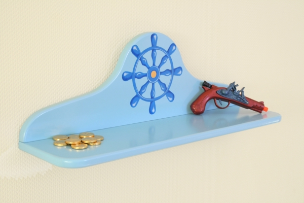 wandregal pirat blau bei oli niki online bestellen. Black Bedroom Furniture Sets. Home Design Ideas