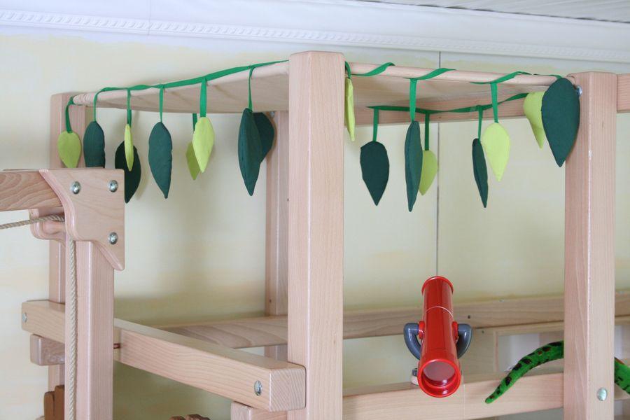 Etagenbett Dschungel : Vorhangset neues design dschungel für hochbet spielbett etagenbett