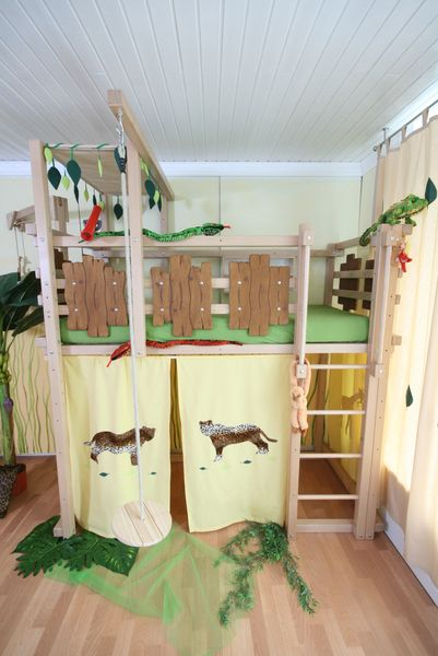 Vorhang kinderzimmer dschungel for Tunnel und vorhang fa r hochbett