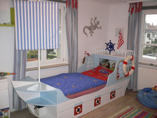 kinderbett boot maritim bei oli niki online bestellen. Black Bedroom Furniture Sets. Home Design Ideas