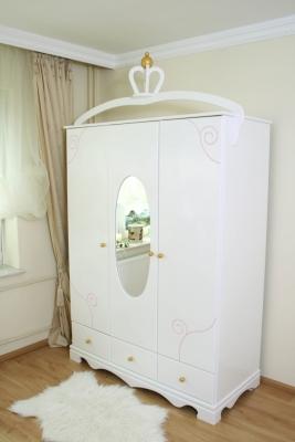 kleiderschrank 3 t rig exklusive wei im shop von oli niki. Black Bedroom Furniture Sets. Home Design Ideas