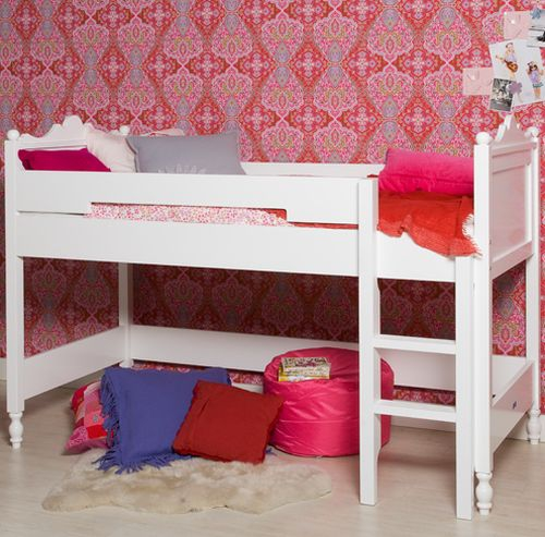 kinderbett 90 x 200 halbhoch belle bopita. Black Bedroom Furniture Sets. Home Design Ideas
