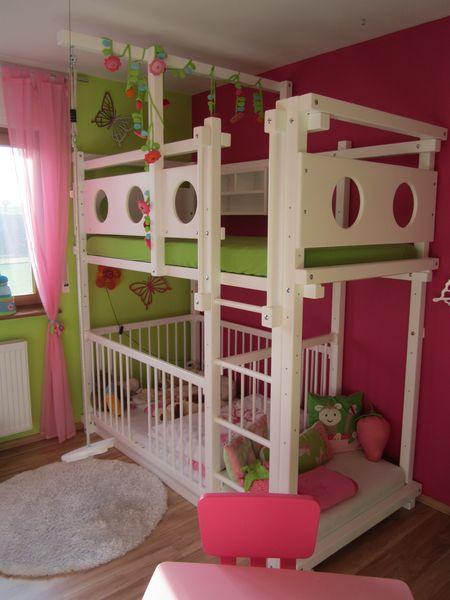 Etagenbett mit babybett bei oli niki online bestellen - Jugendzimmer mit etagenbett ...