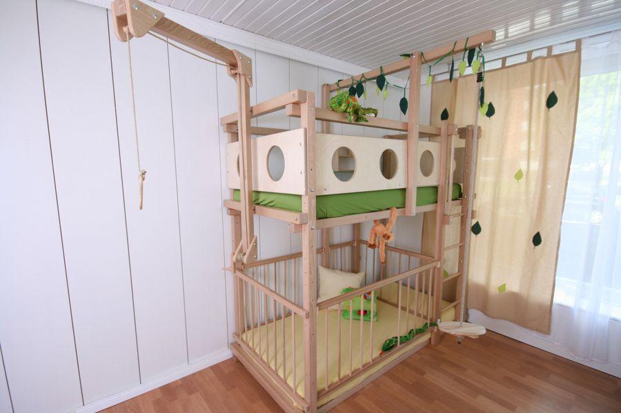 Etagenbett Unten Gitter : Etagenbett mit babybett bei oli niki online bestellen