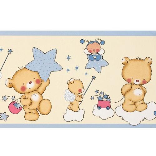 Kinderzimmertapete Streifen Blau Wei Bei Oliundniki Kaufen