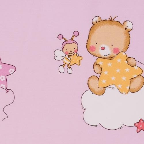 Dekostoff gestreift rosa flieder gelb blau - Kinderzimmer gestreift ...