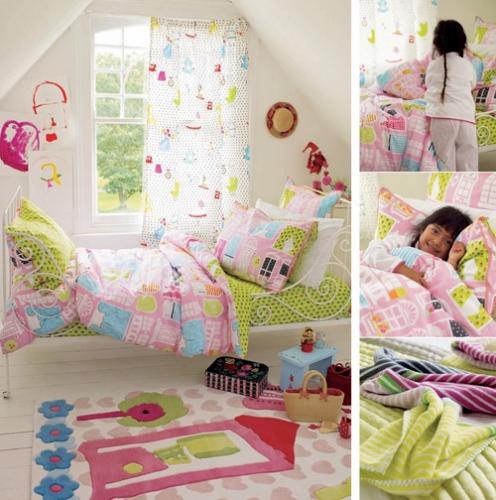 kinderbettw sche dolls house designers im shop von oli niki. Black Bedroom Furniture Sets. Home Design Ideas