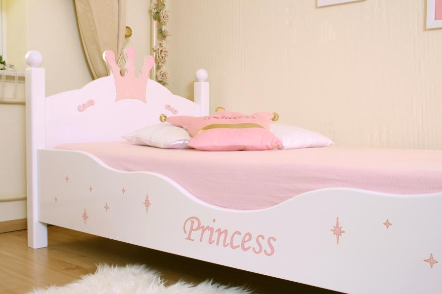 Kinderbett weiß 100x200  Kinderbett Prinzessin weiß/rosa im Shop von Oli&Niki
