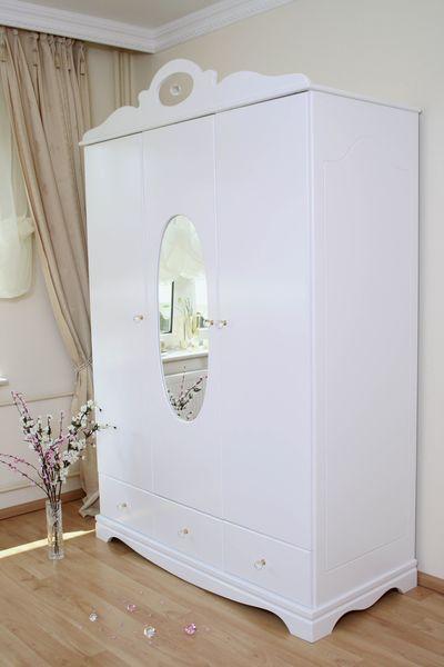 kleiderschrank 2 3 t rig kristall wei im shop von oli niki. Black Bedroom Furniture Sets. Home Design Ideas
