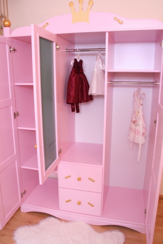 kleiderschrank f r baby princess rosa bei oli niki kaufen. Black Bedroom Furniture Sets. Home Design Ideas