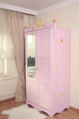 kleiderschrank 2 t rig princess rosa oli niki. Black Bedroom Furniture Sets. Home Design Ideas