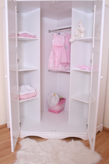 Eckkleiderschrank weiß  Eckkleiderschrank weiß bei Oli&Niki online bestellen.