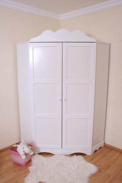 eckkleiderschrank exclusive wei im shop von oli niki. Black Bedroom Furniture Sets. Home Design Ideas
