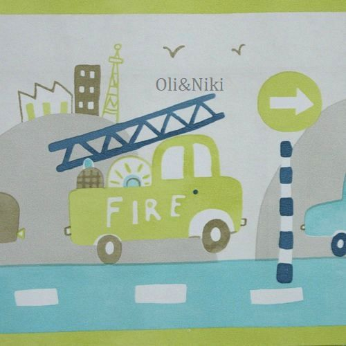 Bordüre Auto in grün und blau bei Oli&Niki bestellen