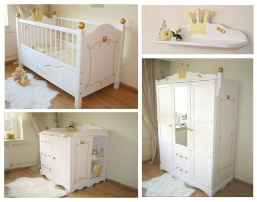 tolles babyzimmer prinzessin in wei bei oli niki kaufen. Black Bedroom Furniture Sets. Home Design Ideas