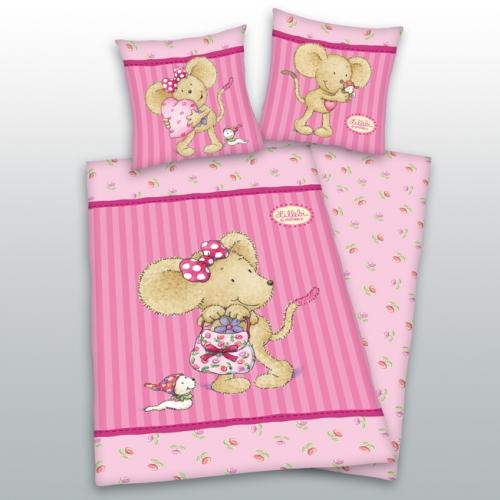 bettw sche lillebi in rosa von oli niki kaufen. Black Bedroom Furniture Sets. Home Design Ideas