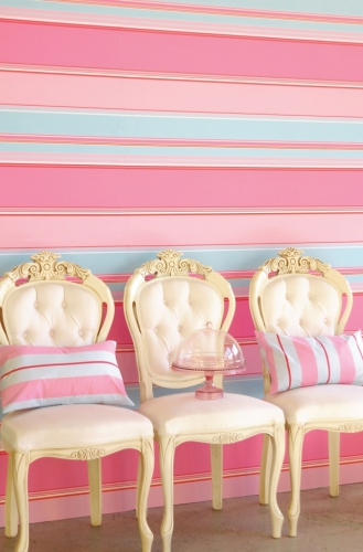 Tapeten Gestreift Pastell : Tapete gestreift rosa blau rot Oli&Niki