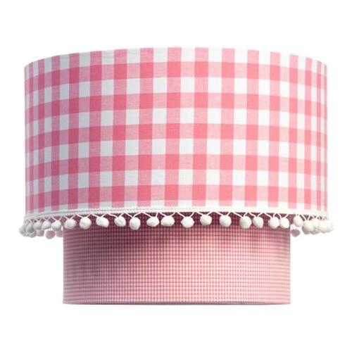lampe vichy karo in rosa bei oli niki kaufen. Black Bedroom Furniture Sets. Home Design Ideas