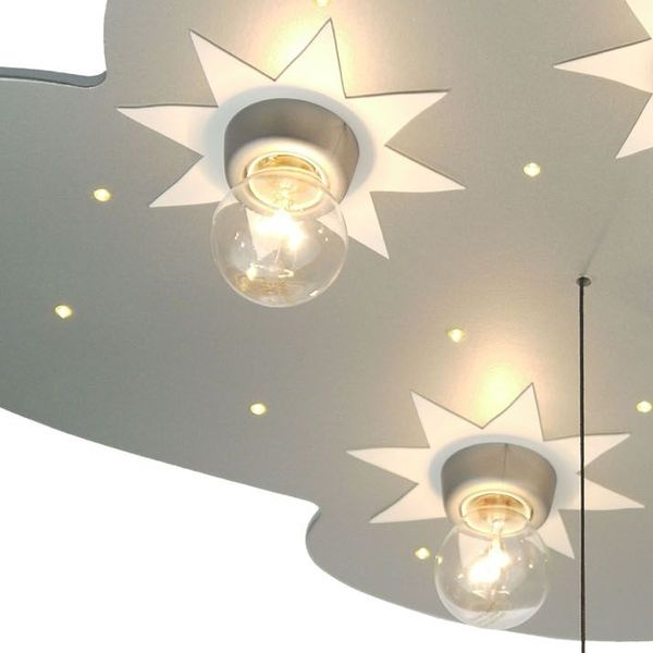 deckenlampe wolke in titan. Black Bedroom Furniture Sets. Home Design Ideas