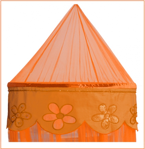betthimmel baldachin flower orange im shop von oli niki. Black Bedroom Furniture Sets. Home Design Ideas