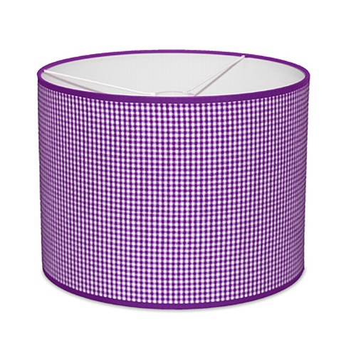 lampe lila kleines vichy karo im shop von oli niki. Black Bedroom Furniture Sets. Home Design Ideas