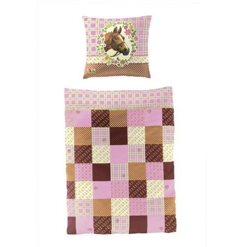 kinderbettw sche pferdefreunde patchwork muster im shop von oli niki. Black Bedroom Furniture Sets. Home Design Ideas