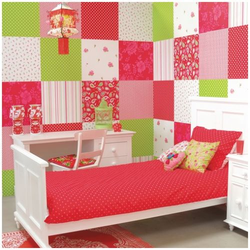 tolle tapete rosen in rot pink bei oliundniki kaufen. Black Bedroom Furniture Sets. Home Design Ideas