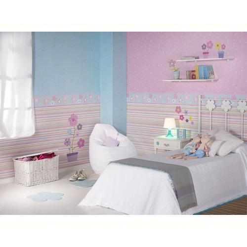 Kinderzimmer Tapeten Gestreift : Tapete gestreift lila pink bei OliundNiki kaufen